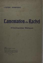 Lamentation de Rachel