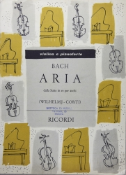 Aria dalla Suite in Re per archi per violino e pianoforte