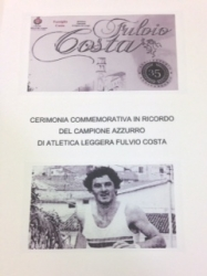Cerimonia commemorativa in ricordo del campione azzurro di atletica leggera Fulvio Costa [DVD]