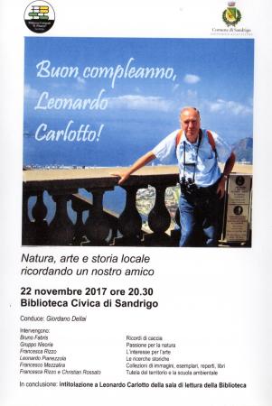 Buon compleanno, Leonardo Carlotto