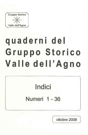 Quaderni del Gruppo storico Valle dell'Agno